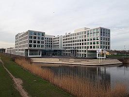 Het gebouw MediArena in Amsterdam