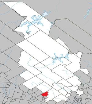 Entrelacs, Quebec - Image: Entrelacs Quebec location diagram