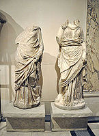 Ephesos Celsus Library sculptures at Vienna 3.jpg