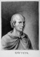 Epictetus portrait from Les Morales de Plutarque, Sénèque, Socrate et Epictète, 1653, Indian ink.png