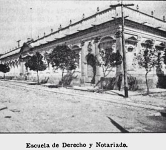 Universidad de San Carlos de Guatemala - College of Law in 1897.