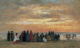 Figures à la plage de Trouville
