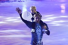 Evgeni Plushenko with son (Snow King show).jpg