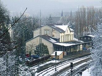 Eschweiler Hauptbahnhof - View from Ichenberg Tunnel