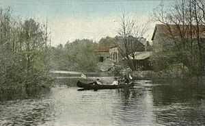 Fremont, New Hampshire - Exeter River at Sand Hill in 1913