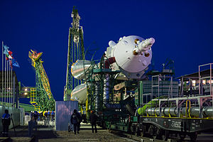 Soyuz TMA-15M - Image: Expedition 42 Soyuz Rollout (201411210014HQ)