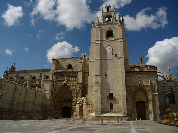 The Palencia Cathedral, where Cabezon probably received his music education from one Garcia de Baeza. Exterior Catedral Palencia1.JPG
