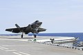 F-35C Lightning II aircraft are tested aboard USS Abraham Lincoln. (36272619443).jpg