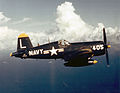 F4U-4 of VF-74 in flight over the Med in 1953.jpeg