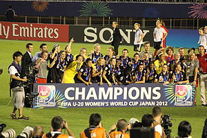 United States women's national under-20 soccer team - After the award ceremony at the 2012 FIFA Under-20 Women'S World Cup in Japan