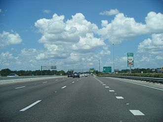 Florida State Road 528 - SR 528 westbound approaching SR 482 in Orlando