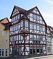 Fachwerkeckhaus aus der Mitte des 17. Jh. mit reizvollem, seltenen Eckfenstererker - Eschwege Ecke Stad-Am Mühlgraben - panoramio.jpg