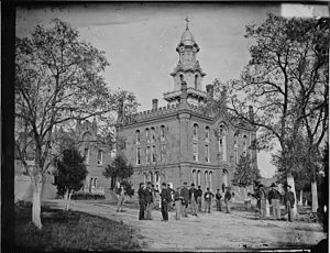 Virginia Theological Seminary - Aspinwall Hall, photographed during the American Civil War