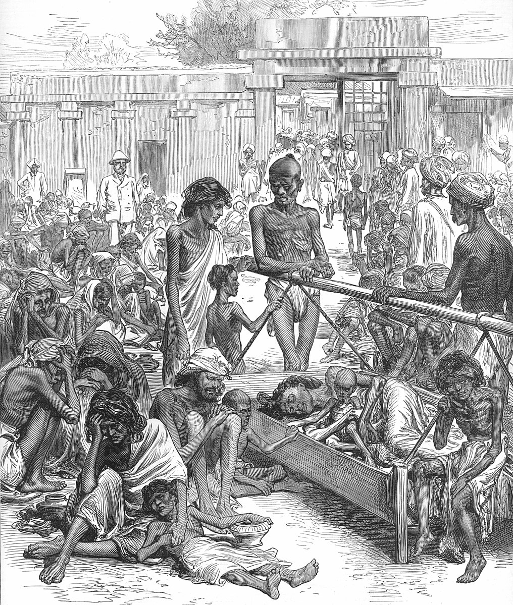 File:Famine in India Natives Waiting for Relief in Bangalore.jpg