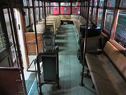 Farebox in Cleveland Railway 1227 at Seashore Trolley Museum, September 2012.jpg