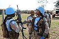 Female combat troops of South African Contingent in MONUSCO on robust foot and moblile patrols 12.jpg