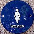 Female symbol on public restroom.JPG