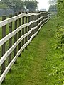 Fence at the side of Burstwick Drain Bridleway - geograph.org.uk - 798620.jpg