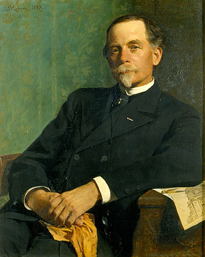 Ferdinand Meldahl - Portrait of Ferdinand Meldahl painted by Peder Severin Krøyer in 1882