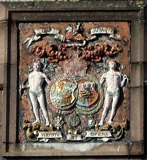 Alexander Duff, 1st Duke of Fife - Fife Arms Hotel, Braemar: Arms of the Duke and Duchess of Fife