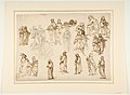 Figure Studies- Standing and Kneeling Clerics and Religious, Adam and Eve, and a Reclining Skeleton MET DP812200.jpg