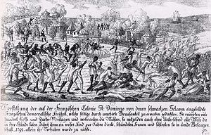 Haiti - Saint-Domingue slave revolt in 1791