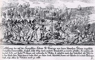 Saint-Domingue - Saint-Domingue slave revolt in 1791