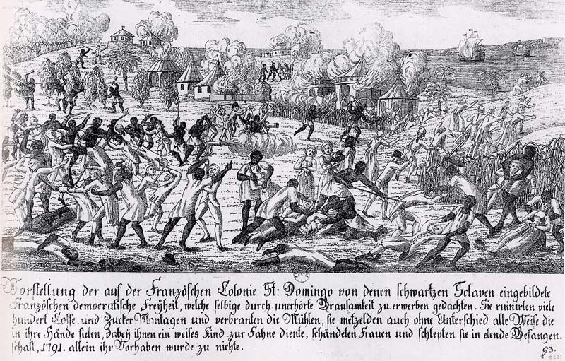 Fire in Saint-Domingo 1791, German copper engraving.jpg