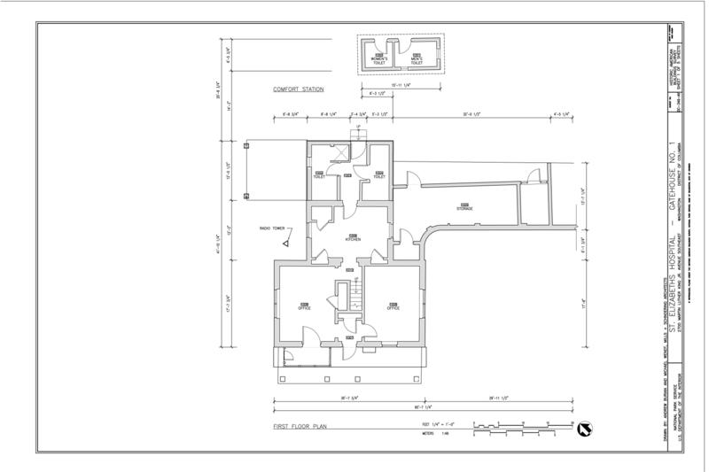 File:First Floor Plan - St. Elizabeths Hospital, Gatehouse No. 1 ...