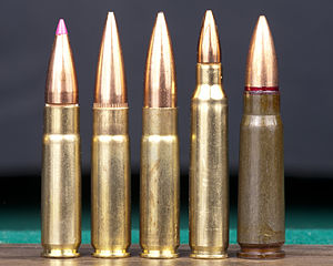 .300 AAC Blackout - Image: Five bullets