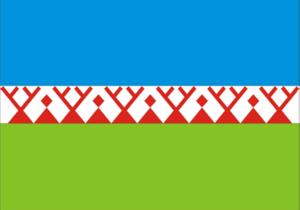 Momsky District - Image: Flag of Momsky rayon (Yakutia)
