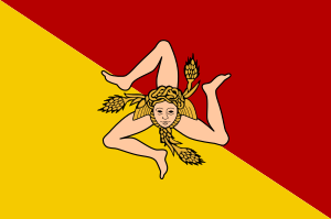 Flag of the Sicilian Region Italiano: Bandiera...