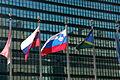 Flag of Slovenia at UN HQ.JPG