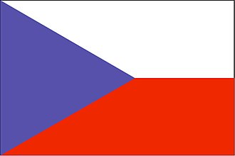 Timeline of national flags - Image: Flag of the Czech Republic (WFB 2000)