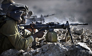 Gaza Division - Soldiers of the Gaza Division's Desert Reconnaissance Battalion during a military exercise
