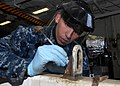 Flickr - Official U.S. Navy Imagery - Sailor prepares for an inspection aboard USS Carl Vinson..jpg