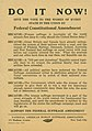 Flier- Do It Now! Support the Federal Suffrage Amendment, 1918.jpg