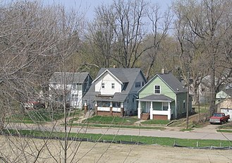 Flint, Michigan - Hall's Flats on the West Side is one of Flint's many neighborhoods.