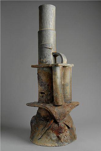Don Reitz - Florida Kachina, 2009. Wood-fired stoneware