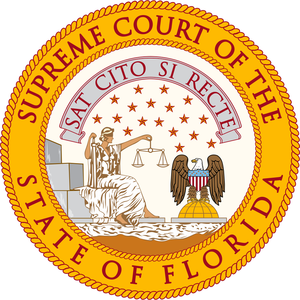 Seal of Florida - Image: Florida Supreme Court Seal 2014