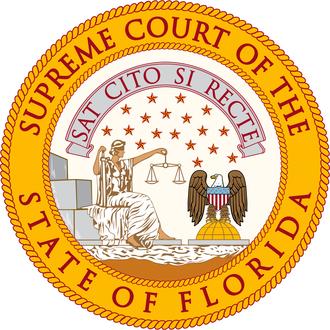 Seal of Florida - Image: Florida Supreme Court Seal 2014