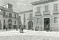Foggia casa municipale e piazza municipio xilografia di Barberis.jpg