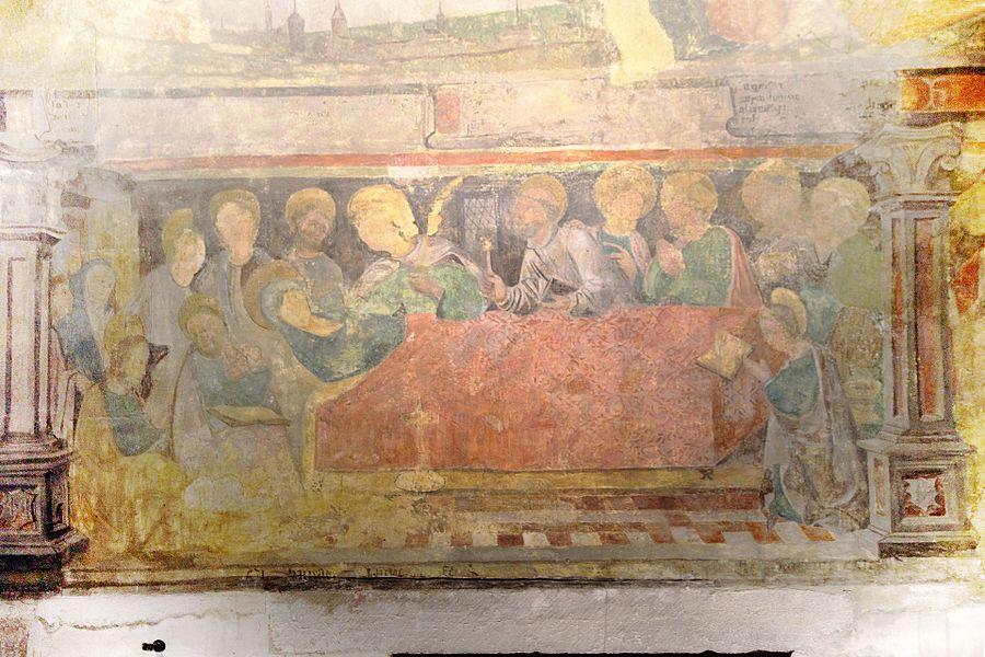 Fresque de la dormition de la Vierge dans l'église Saint-Bernard de Fontaine-lès-Dijon