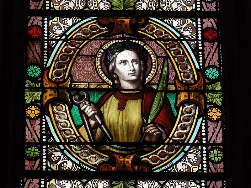 Fontenoy-la-Joûte (M-et-M) église Saint-Pierre, vitrail