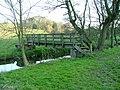 Footbridge over Biddulph Brook - geograph.org.uk - 385853.jpg