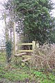 Footpath sign and stile - geograph.org.uk - 299351.jpg