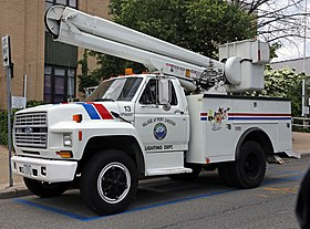 ford f600 lighting maintenance truck port chester jpg