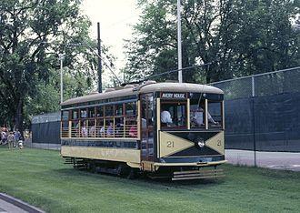 Birney - Fort Collins Municipal Railway Birney car 21, built in 1919