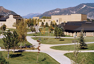 Fort Lewis College - Fort Lewis College campus looking north, showing the Southwestern-style architecture.