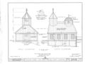 Fort Ross, Russian Chapel, Fort Ross, Sonoma County, CA HABS CAL,49-FORO,1A- (sheet 2 of 6).png